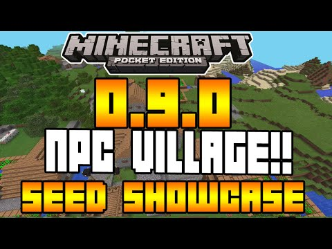Minecraft Pocket Edition - 0.9.0 UPDATE! - BEST NPC VILLAGE SEED! + MOB SPAWNER SHOWCASE!
