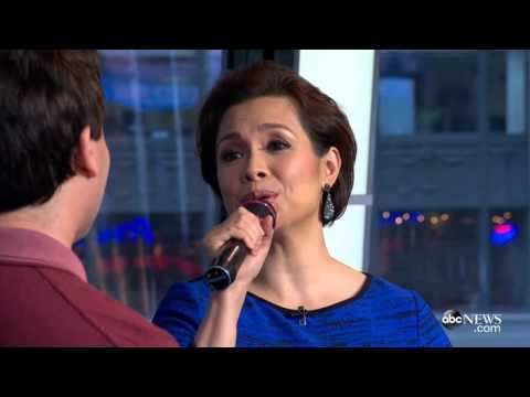 Lea Salonga and Brad Kane perform 'A Whole New World' on Good Morning America