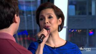 Lea Salonga and Brad Kane perform