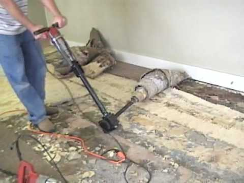 Bad Glued Carpet Takeup Made Easy Using Ripper Wmv Youtube