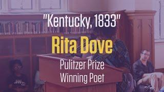 Pulitzer Prize winning poet Rita Dove, reads