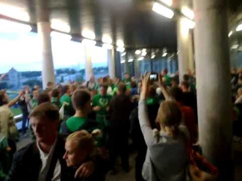 Žalgiris fans Green White Boys after LKL final game 2011/2012