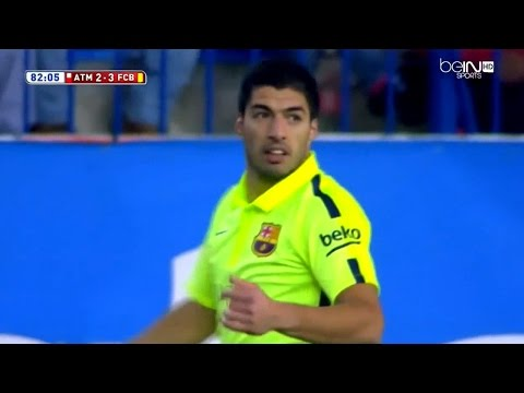 Luis Suarez vs Atletico Madrid Away (English Commentary) HD 720p (28/01/2015)