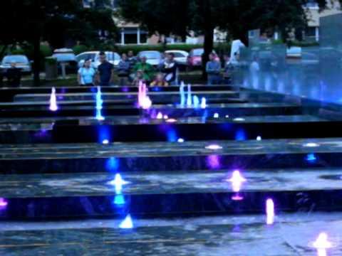 Fontanna Multimedialna W Szczecinie (singing Multimedia Fountain In Szczecin)