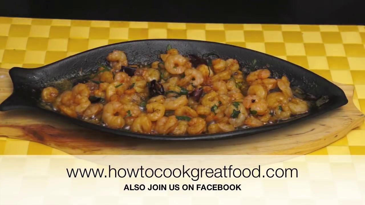 Prawn Shrimp Pil Pil Gambas Garlic Chilli sizzling recipe how to cook ...