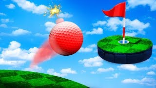 *NEW* GOLF GAME WITH EXPLOSIVES?! (SUPER INEFFICIENT GOLF)