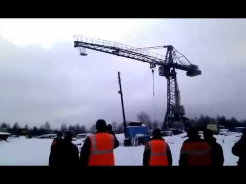 Crane Collapse! Кран упал! (www.vertikalnet.ru)