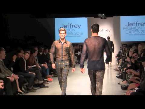 Jeffrey Fashion Cares Runway Show- 40 Hot Male Models Take The Runway video