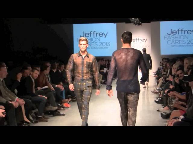 JEFFREY FASHION CARES RUNWAY SHOW- 40 HOT MALE MODELS TAKE THE RUNWAY