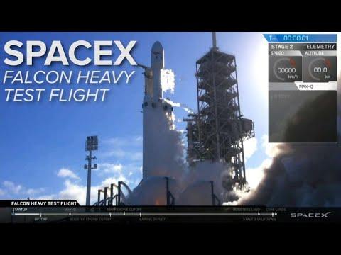 Watch the SpaceX Falcon Heavy rocket test flight