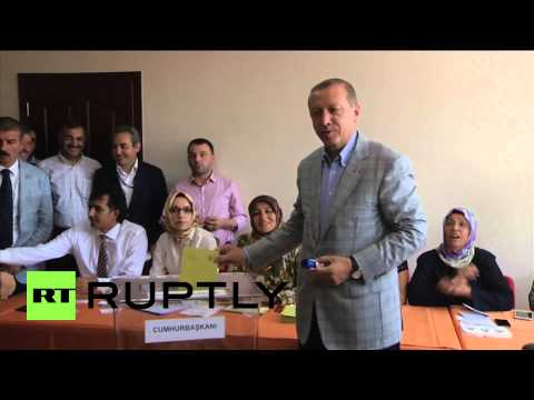 Turkey: Erdogan votes in country's first presidential election by popular vote