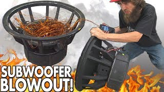 """Blowing $8000 Worth of SUBWOOFERS!?! The BIGGEST Subwoofer BLOWOUT EVER w/ Rare 18"""" SPEAKER BLOWOUTS"""