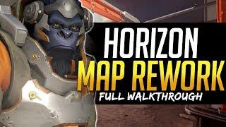 Overwatch HORIZON MAP REWORK - Full Walkthrough