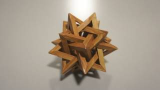 'wooden' Five Intersecting Tetrahedra (thomas Hull) - Not A Tutorial