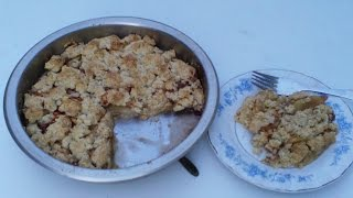 Apple cinnamon oatment tart recipe