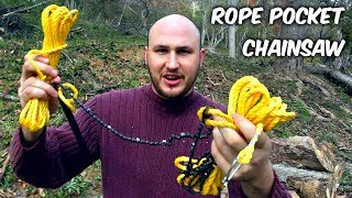 Testing Rope Pocket Chainsaw