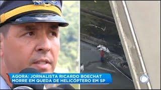Polícia confirma que o helicóptero do Boechat tentou fazer pouso de emergência