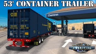 ATS Mods - 53 Foot Container Trailer