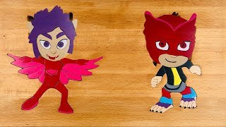 PJ Masks wooden puzzles Owlette and Rip