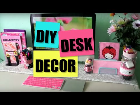 Desk Decor DIY - Pencil Cup. Display Jars + Decor Tips