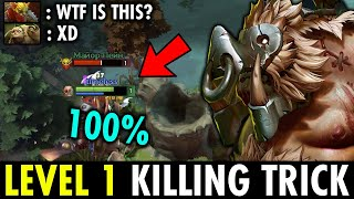 INSANE LEVEL 1 HOOK TRAP TIMELESS PUDGE - PUDGE KILLING TRICK IN 7.26 | GENIUS PUDGE