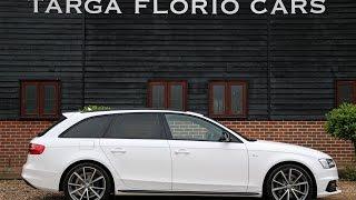 Audi A4 Avant 2.0 TDi 177 S Line Black Edition Plus Automatic in Ibis White