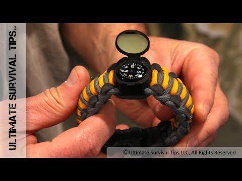 Survival gear paracord bracelet
