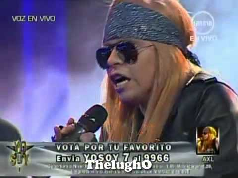 Yo Soy AXL ROSE [ La Gran Final ] Roquet Queen - Yo Soy Segunda Temporada [10-08-12]