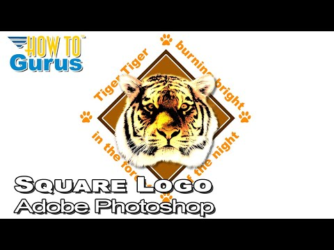 Photoshop Logo Design Tutorial: Creating a Square Logo with Text in CC 2017 CS6 CS5
