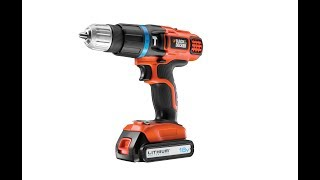 BLACK+DECKER 18 V Lithium-Ion Drill Driver with Kit Box and 2 Batteries - Test