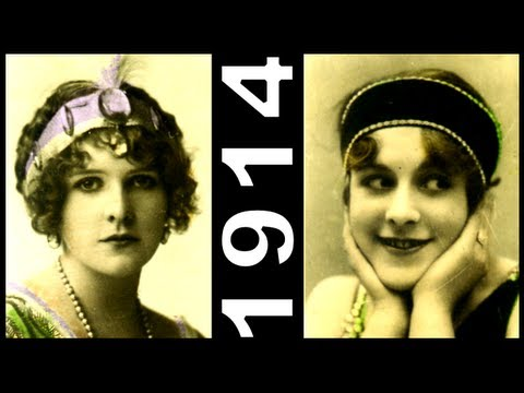 Most Beautiful 1910's Actresses - Edwardian Fashion Icons Hairstyles Headbands 1914 Cigarette Cards