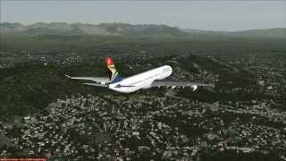 SAA A340-600 flight from Tana to Cape Town