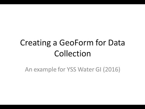 Creating an ArcGIS GeoForm