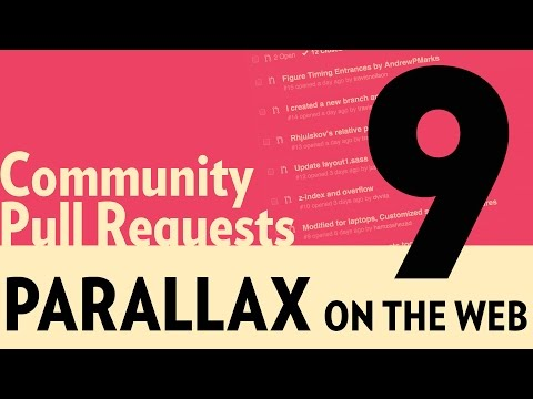 Parallax on the Web Part 9 – Community Pull Requests