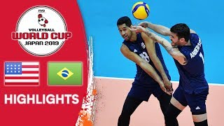 USA vs. BRAZIL - Highlights | Men's Volleyball World Cup 2019