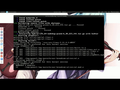 How to easily install Arch linux  with the aui script [HD]