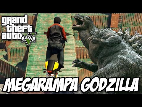Gta V - Megarampa Godzilla IncrÍvel video
