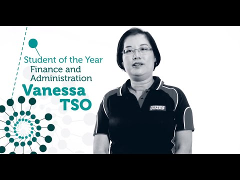 Vanessa Tso - Finance & Admin Student of the Year 2014