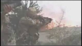 Canadian military invades a Taliban compound