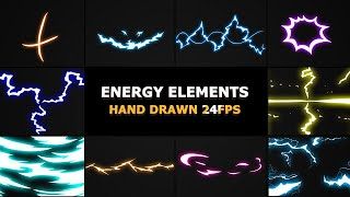 Flash FX Electrical Energy Elements Stock Motion Graphics