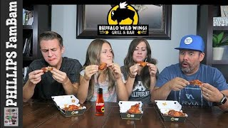 Parents and Teens try BUFFALO WILD WINGS BLAZIN' HOT WINGS CHALLENGE   | PHILLIPS FamBam Challenges