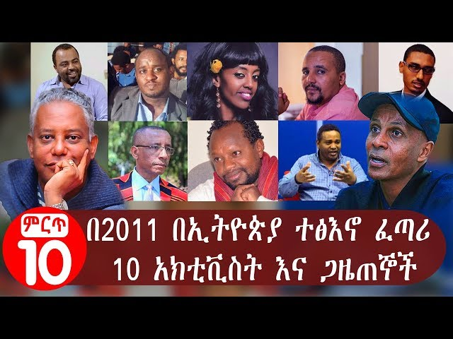 2011's Top influential activists in Ethiopia