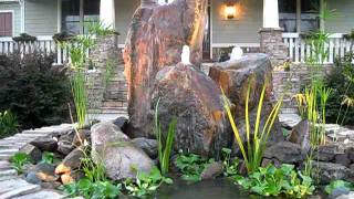 Triple Boulder Bubbler Water Fountain by Creative Cascades