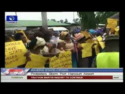 Protesters storm Port Harcourt airport