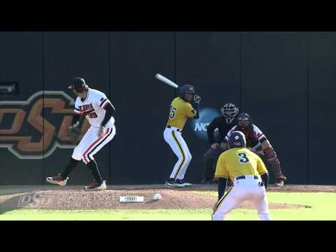 Cowboy Baseball vs Michigan Web Highlights (03.18.16)