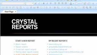 Crystal Reports 2008 Training
