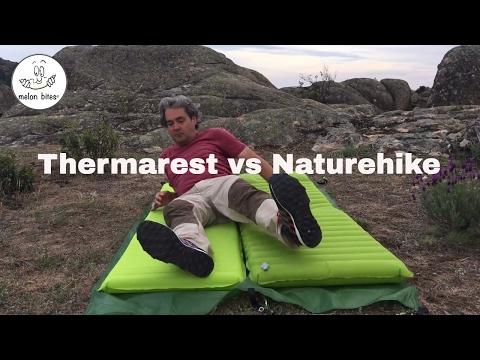 Thermarest Venture vs Naturehike Colchonetas hinchables light  (subtitles)