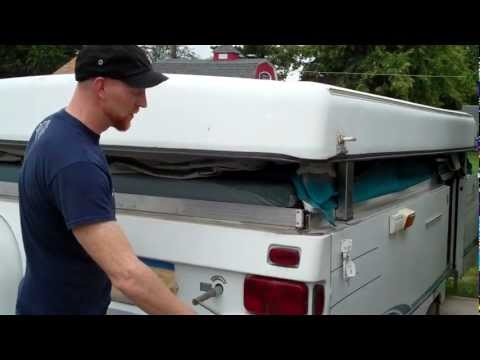 How to set up a tent trailer