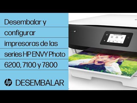 Desembalar y configurar impresoras de las series HP ENVY Photo 6200, 7100 y 7800   HP ENVY   HP