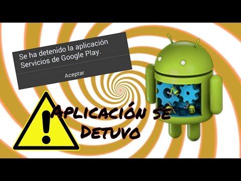 Aplicación se detuvo/ Aplicación usuario a sistema